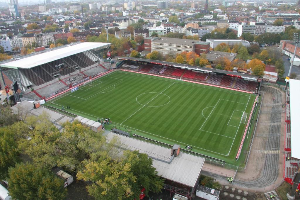 Das Millerntor-Stadion 2009. Foto: Antje Frohmüller