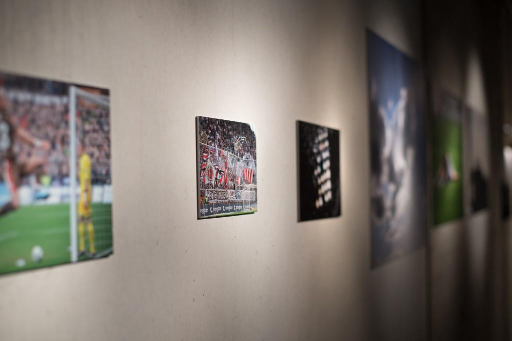 Foto-Galerie der Millerntor-Ausstellung. Fotos vom Galerie-Korridor: Gerd Bitzer