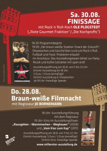 Finissage und Filmnacht am 28. und 30. August!